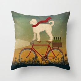 Doodle Bike Throw Pillow