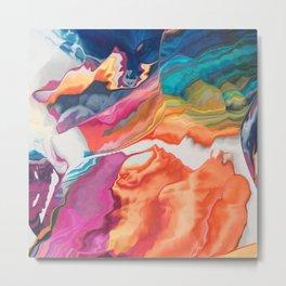 The rainbow is liquifying Metal Print