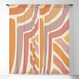 Abstract Stripes IV Blackout Curtain