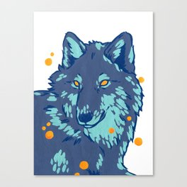 Blue Wolf Canvas Print
