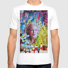 Betty White Mens Fitted Tee X-LARGE White