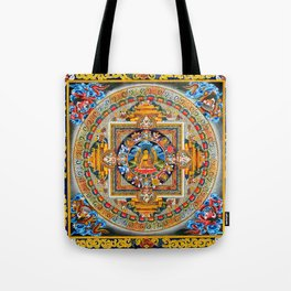 Buddhist Mandala Gold Tangka Wisdom Tote Bag
