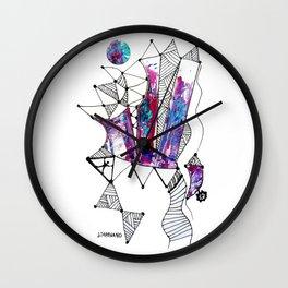 Castillo (Cristales) / White background Wall Clock