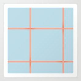 light blue open weave Art Print