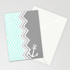 Nautical Chevron Stationery Cards