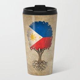 Vintage Tree of Life with Flag of Philippines Travel Mug