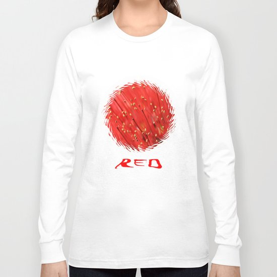 Red  &  Hairy Long Sleeve T-shirt