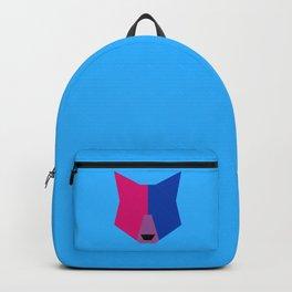 Bi pride wolf Backpack