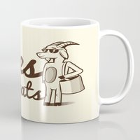 totes Mugs featuring Totes McGoats by Scoggz