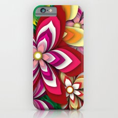 Colourful Flowers Slim Case iPhone 6s