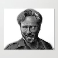 conan Canvas Prints featuring Conan Digital Painting by Art and Adornment by Mo Schreffler