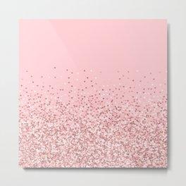 Blush Pink Glitter Metal Print