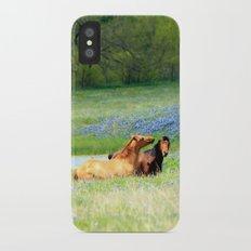 Horses & Bluebonnets iPhone X Slim Case