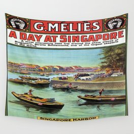 Vintage poster - Singapore Wall Tapestry