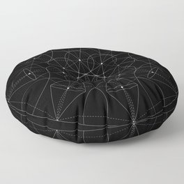 Portals - White on Black Version Floor Pillow