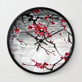 Plum Blossom at night Wall Clock