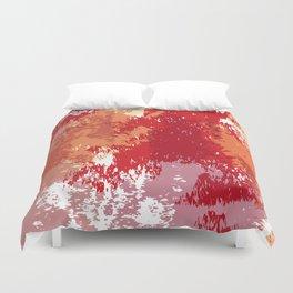 Red Orange Watercolor Duvet Cover