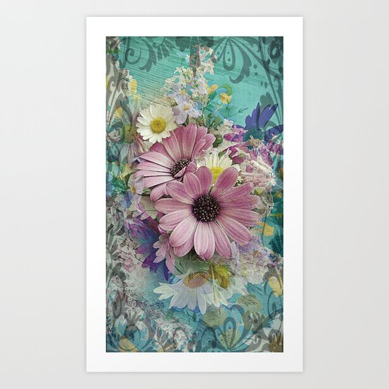Happy Colors Daisies Art Print