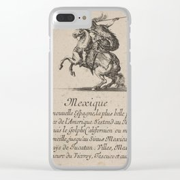 Game of Geography - Mexico (Stefano della Bella, 1644) Clear iPhone Case