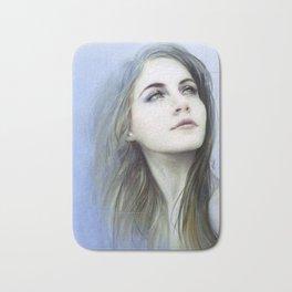 Self - Female digital art painting portrait Bath Mat