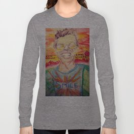 Phil Lesh at Red Rocks Watercolor Painting Long Sleeve T-shirt