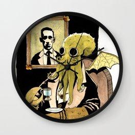 Cthulhu Taking Tea Wall Clock