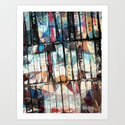 Musical Cassette Tapes Collage by perkinsdesigns