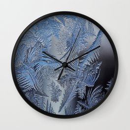 Frost leafe Wall Clock