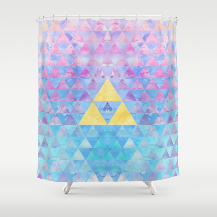 Zelda Geometry Shower Curtain