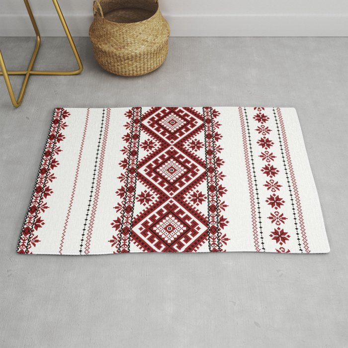 Traditional Romanian Motif Rug By