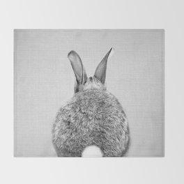 Rabbit Tail - Black & White Throw Blanket