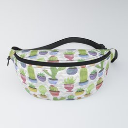 Watercolor Succulent Pattern Fanny Pack