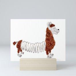 Slinky Llama Mini Art Print