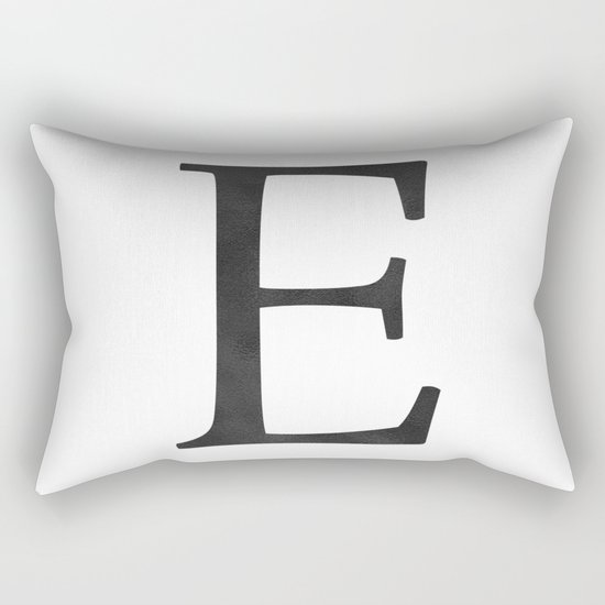 Letter E Initial Monogram Black and White by followmeinstead