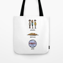 Friends, Waffles, Work Tote Bag