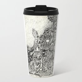 My City Driven by Fire Into the Sea Travel Mug