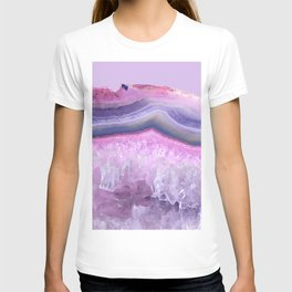 Ultraviolet and Pink Agate T-shirt