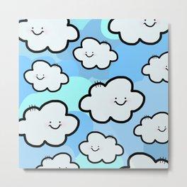 Cheery Cloud Cluster Metal Print