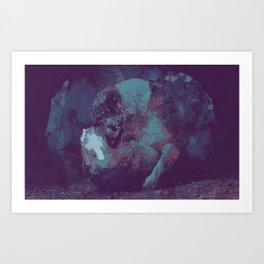 Distressed. Art Print