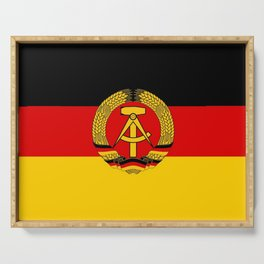 flag of RDA Or east Germany Serving Tray