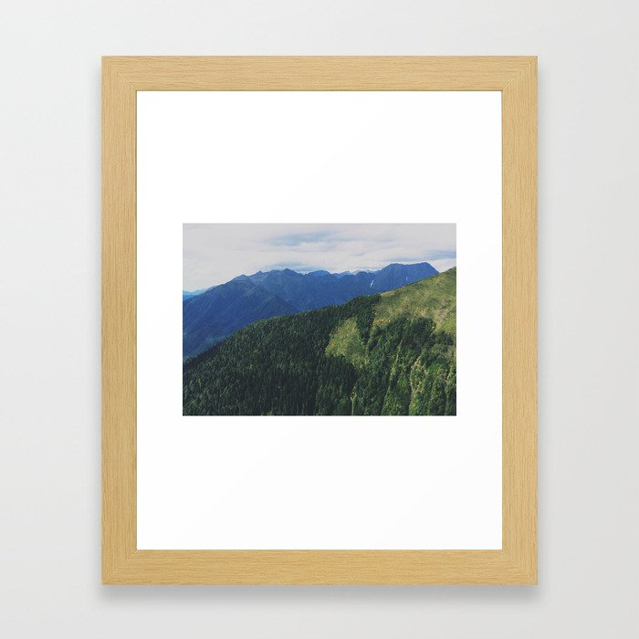 mountains love you Framed Art Print