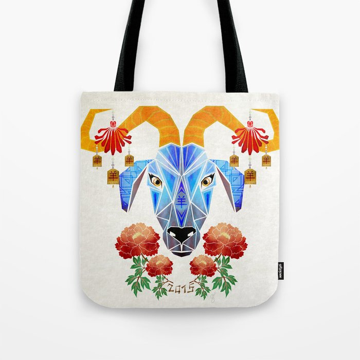 chinese goat Tote Bag