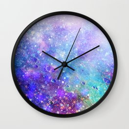 Colorful Deep Space Background Wall Clock