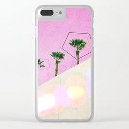 Levitated Mass (Pink) Clear iPhone Case