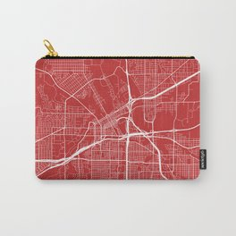 Fort Worth Map, USA - Red Carry-All Pouch