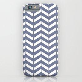 WEFT - periwinkle chevron iPhone Case