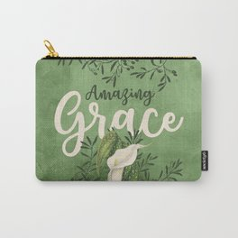 Amazing Grace (green) Carry-All Pouch