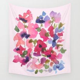 Monet's Rose Garden Wall Tapestry