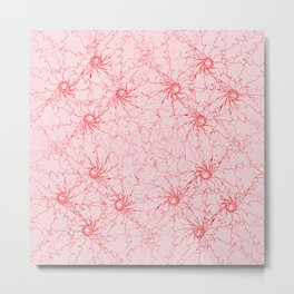 red touches. orange red paint for texture, background, pattern Metal Print