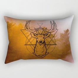 Nature Deer orange Rectangular Pillow